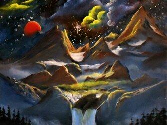 宇宙模様の星の画像