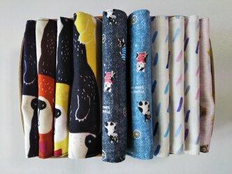 【送料無料】ガーゼの15cm角ハンカチ 10枚組 ⑯の画像