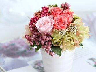 le sorbet (ル ソルべ)  プリザーブドフラワー ピンク 退職祝い・誕生日・プチギフトの画像