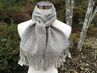 【畑からの優しい贈り物】 手紡ぎオーガニック和綿キブシ染マフラ-の画像