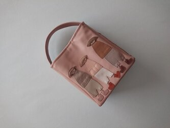 annco leather one handle bag [pink beige]の画像