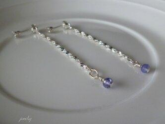 swing earrings - iolite silverの画像