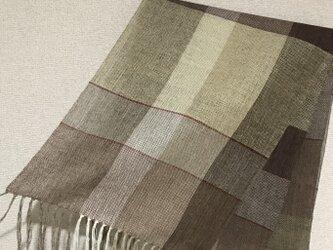 手織りストール W14の画像