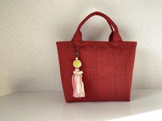 帯バッグ〜赤〜の画像