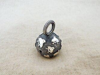 卓上の鈴 『 千鳥群翔 』 銀製(シルバー925)の画像