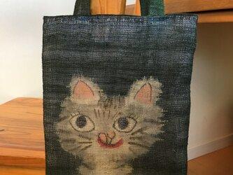 グレーなドラ猫ちゃんトートの画像