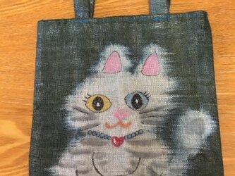 ラブリーなドラ猫ちゃんトートの画像