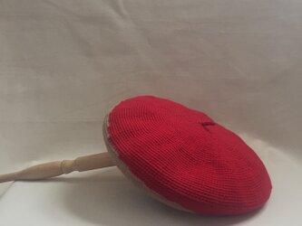 Zureteruベレエ帽 レッド ベージュの画像