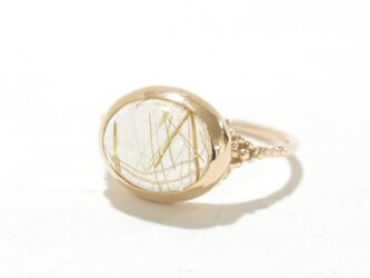 1st anniversary sale!! K10YG  Rutilated quartz ringの画像
