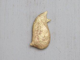 ブローチ「猫さん」の画像