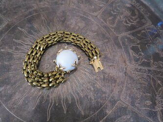 ホワイトクラスプブレスレット vintage bracelet white <BL6-1219>の画像