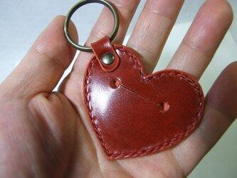 500円玉ハートのキーホルダー ルガト赤の画像