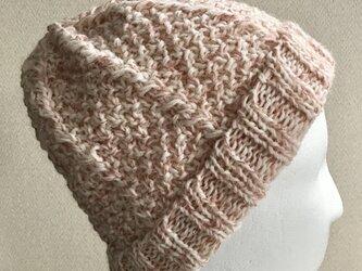 スパンコール輝くニット帽ーーーイチゴミルクの画像