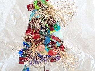 ステンドグラス クリスマスツリー オーナメントの画像