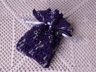 古布(裂き編み)のミニ巾着 ・銀河の画像
