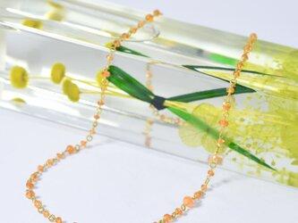 アンティークビーズのヘソナイトガーネット x k18YG ネックレスの画像