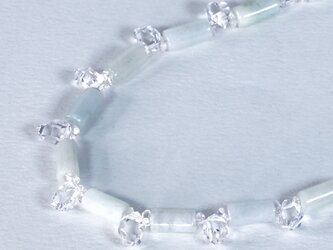 ハーキマーダイヤモンド x 翡翠 のネックレスの画像