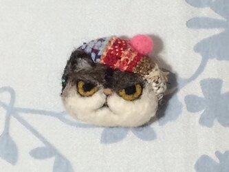 ブローチ  チャペ※ベレー帽の画像