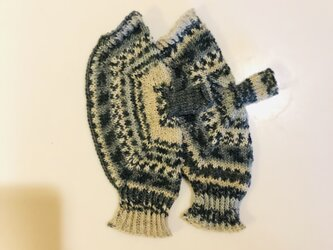 №211 手編みミトン送料込 雪化粧の画像