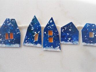 小さな雪の町のガーランド 3の画像