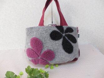 ボア・ジャガードの花柄トート(イタリア製)の画像