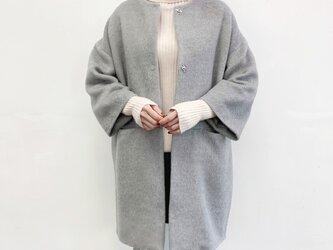 ★★en-enシャギー・コクーンコート・明るいグレー(裏地付き)の画像