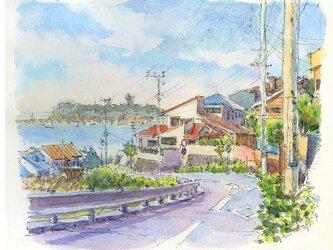 注文制作します 水彩画原画 湘南風景16(#395)の画像