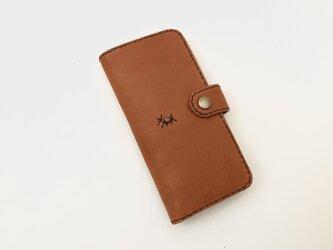 本革 手縫い手帳型スマホケース(iPhone XR・11・XS  Max・11Pro Max)の画像