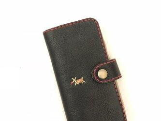 本革 手縫い手帳型スマホケース(iPhoneシリーズ 全機種)の画像