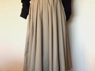 裏起毛 あったかチノのダブルフロントスカートの画像