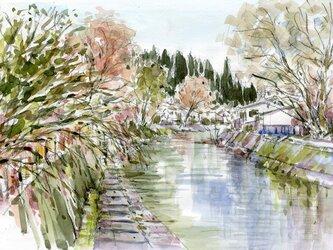 注文制作します 水彩画原画 冬の飛騨高山1(#392)の画像