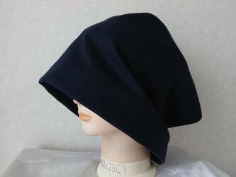 魅せる帽子☆【受注製作】ゆるゆるかなり大きめ!!2wayワッチキャップ~ネイビーの画像