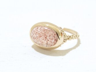1st anniversary sale!! K10YG Strawberry quartz ringの画像