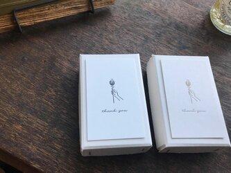 【活版印刷】Thank you card box ブラック(カード7種アソート30枚入り)の画像