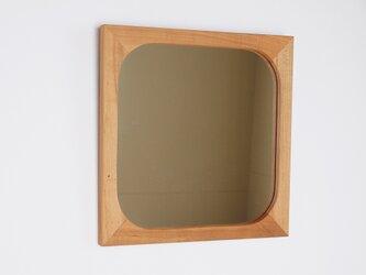 木製 鏡 桜材 ミラーの画像