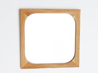 木製 角丸 鏡 桜材2 ミラーの画像