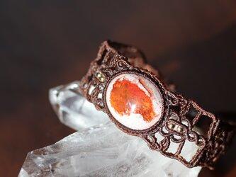 【マクラメ】カンテラオパールの腕輪【ブレスレット・バングル】の画像
