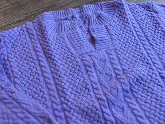 【受注製作】カシミア・セーター ニット オーダーメイド 豊富な色 LS00012の画像