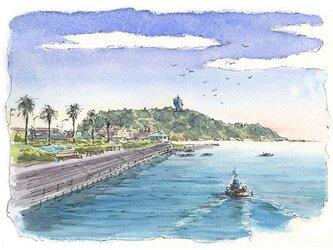 注文制作します 水彩画原画 江の島15(#386)の画像