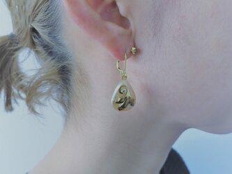 パール&リーフピアス ミリアムハスケル vintage pierced earrings <PE4-1219>の画像