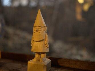 小人 木彫りの画像