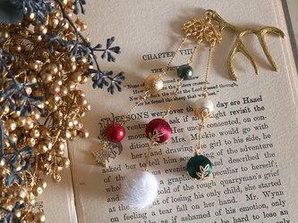 冬のイロドリ帯飾り《メリークリスマス》【送料無料】の画像