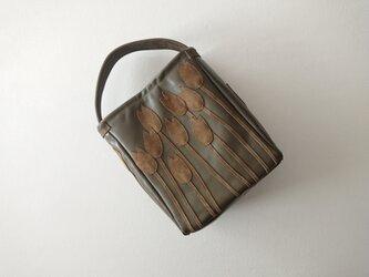 tulip leather one handle bag [moss]の画像