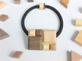 【新作】Wood Crystal レクタングルヘアゴムの画像