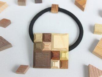 【新作】Wood Crystal スクエアヘアゴムの画像