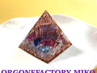 コスモオーラタンブル 宇宙 月のエネルギー 癒し 六芒星 幸運メモリーオイル入 ピラミッド オルゴナイトの画像
