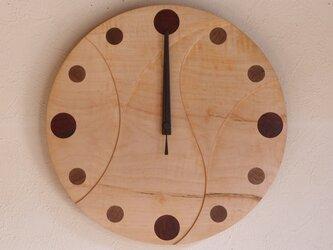 無垢の木の電波掛け時計 かえで 0013の画像