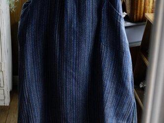 藍染セーラーカラーワンピースの画像