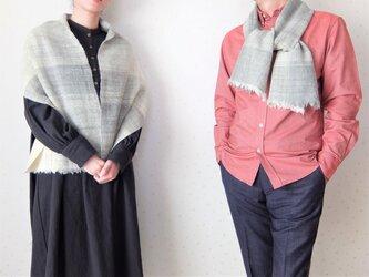 手紡ぎ・手織り ペアのストールマフラーの画像