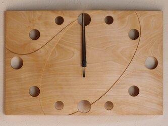 無垢の木の電波掛け時計 かえで 0007の画像